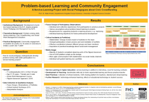 Problem-based Learning and Community Engagement (Poster)