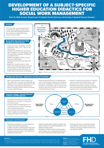Development of a Subject-Specific Higher Education Didactics for Social Work Management (Poster)